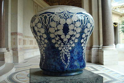 Poster featuring the photograph Le Vase Bleu by Kay Gilley