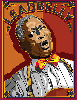 Leadbelly Delta Blues Poster by Larry Butterworth