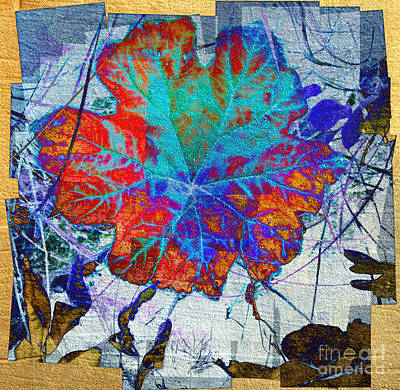 Poster featuring the mixed media Leaf   by Irina Hays