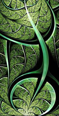 Leaf Texture Poster by Anastasiya Malakhova