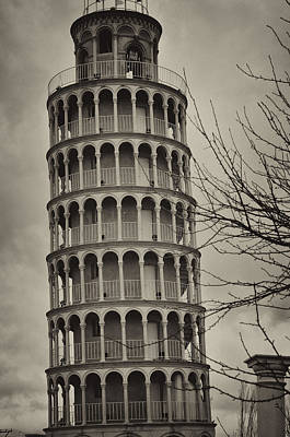 Poster featuring the photograph Leaning Tower by Miguel Winterpacht