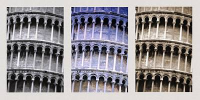 Leaning Tower Of Pisa Poster by Carson Ganci