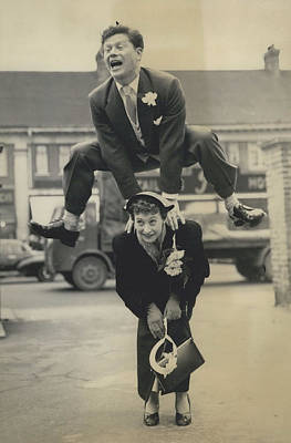 Leap- Year Day Wedding In London. The Acrobatic Groom Poster by Retro Images Archive