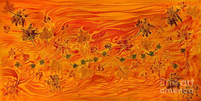 Leaves Off English Bay Poster by Jo-Anne Elniski