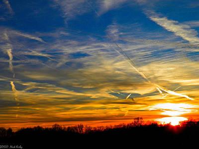 Leavin On A Jetplane Sunset Poster
