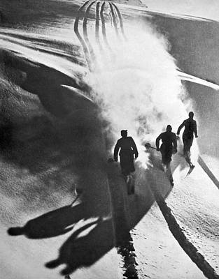 Leaving A Powder Trail Poster by Underwood Archives