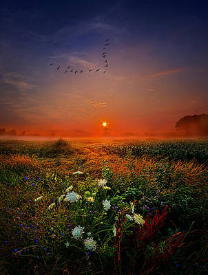Leaving For New Horizons Poster by Phil Koch