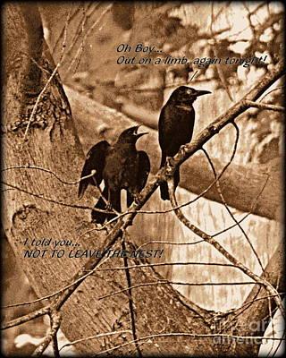 Leaving The Nest Poster by Rev Richard W Burdett
