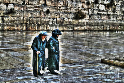 Poster featuring the photograph Leaving The Western Wall In Israel by Doc Braham