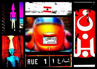 Lebanon Funky World Poster by Funkpix Photo Hunter