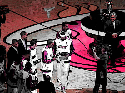 Poster featuring the photograph Lebron's 1st Ring by J Anthony