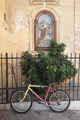 Poster featuring the photograph Lecce Italy Bicycle by John Jacquemain