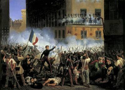Lecomte, Hippolyte 1781-1857. Fight Poster by Everett