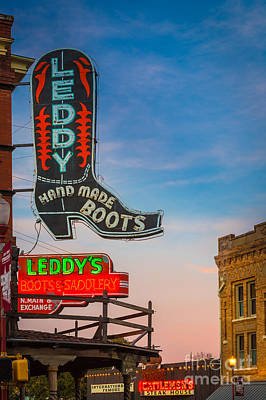 Leddy Boots Poster by Inge Johnsson