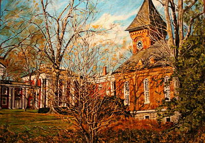 Lee Chapel From The Lower Walk Poster by Thomas Akers