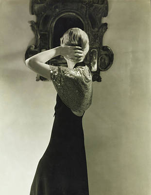 Lee Miller Wearing A Dress By Jeanne Lanvin Poster