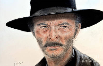 Lee Van Cleef As Angel Eyes In The Good The Bad And The Ugly Poster by Jim Fitzpatrick