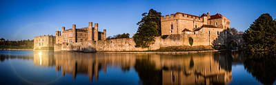 Leeds Castle Panorama Poster by Ian Hufton