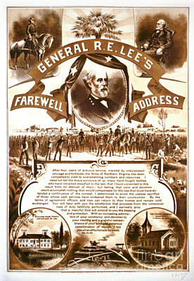 Lee's Farewell Address 1865 Poster by Padre Art