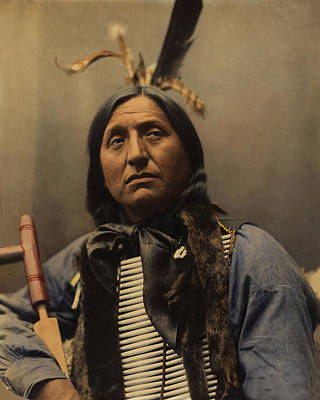 Left Hand Bear Oglala Sioux Chief Poster