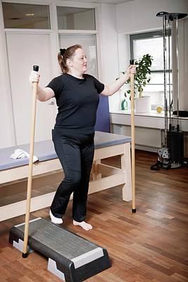 Leg Injury Physiotherapy Poster by Thomas Fredberg