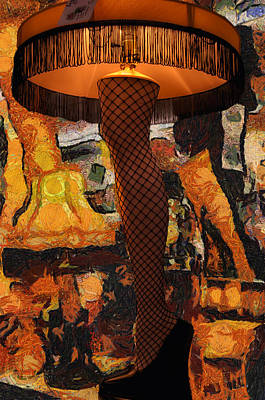 Leg Lamp Mixed Media 04 Poster by Thomas Woolworth