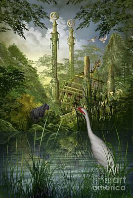 Leg Ruined Palace Poster by Ciro Marchetti