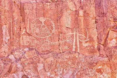 Petroglyphs Owens Valley California Poster