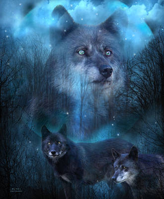 Legend Of The Blue Wolf Poster