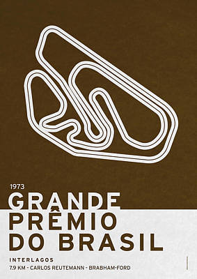 Legendary Races - 1973 Grande Premio Do Brasil Poster by Chungkong Art