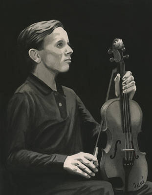 Poster featuring the painting Legendary Violinist by Ferrel Cordle