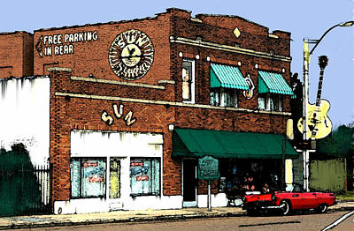 Legendary Sun Studio Records Poster by Iconic Images Art Gallery David Pucciarelli