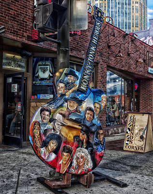 Legends Corner Bar In Nashville Poster