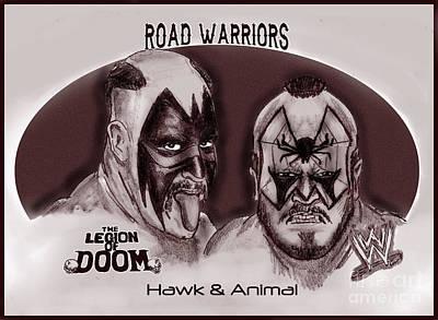 Legion Of Doom- The Road Warriors Poster by Chris  DelVecchio