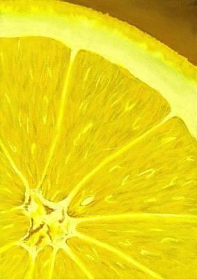Lemon Poster by Anastasiya Malakhova