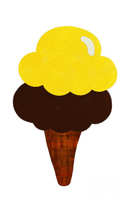 Lemon And Chocolate Ice Cream Poster by Andee Design