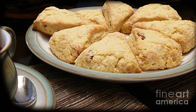 Poster featuring the photograph Lemon Apricot Scones For Tea by Maria Janicki