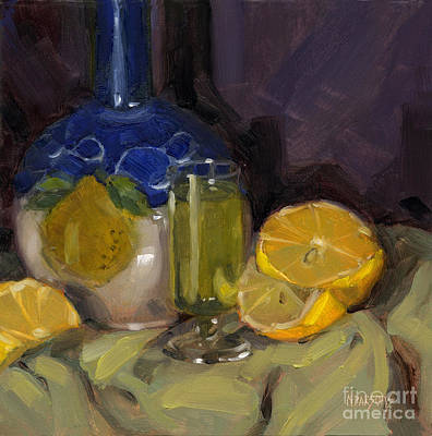 Poster featuring the painting Lemon Light by Nancy  Parsons