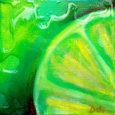 Lemon Lime Poster by Debi Starr