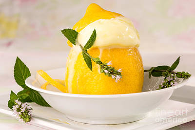 lemon Sorbet   Poster by Iris Richardson