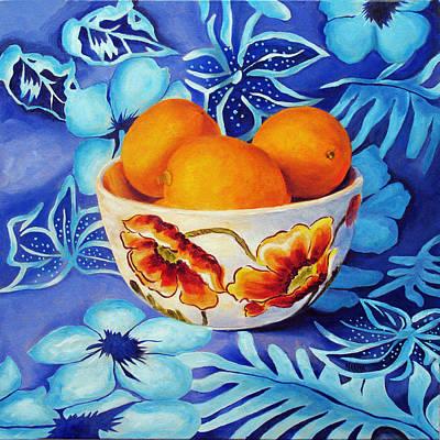 Lemons In A Bowl Poster