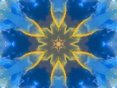 Lemurian Aquatine Calcite Mandala Poster