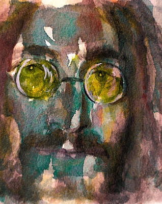 Poster featuring the painting Lennon 2 by Laur Iduc