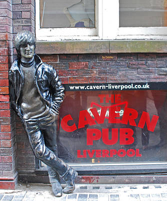 Lennon At The Cavern Poster by Georgia Fowler