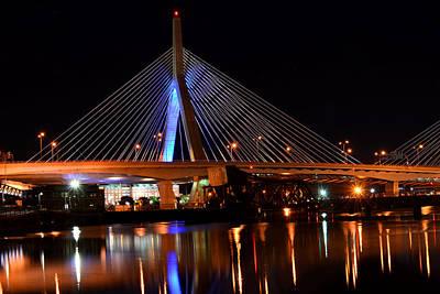 Lenny Zakim Bridge Boston Ma Poster by Toby McGuire