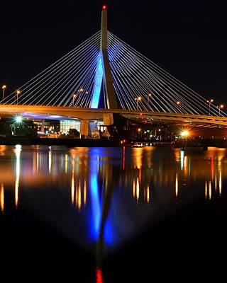 Lenny Zakim Bridge From North Point Park Poster by Toby McGuire