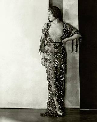 Lenore Ulric Wearing A Beaded Dress Poster