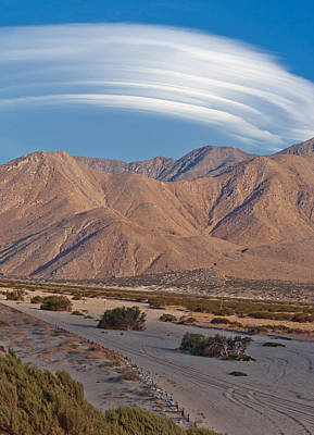 Lenticular Cloud Over Palm Springs Poster by Matthew Bamberg