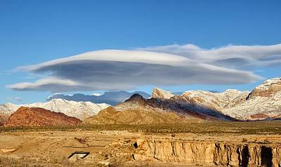 Lenticular Cloud Red Rock Canyon Poster