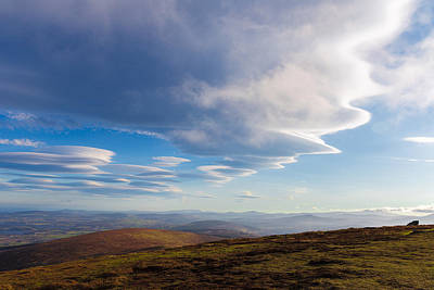 Lenticular Clouds Forming In Wicklow Mountains Poster